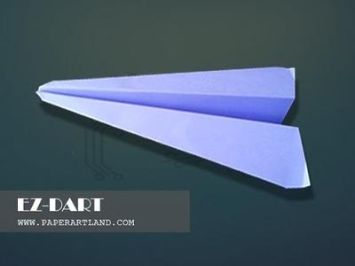 Let's make a paper plane that flies FAR | EZ Dart | ( Traditional )