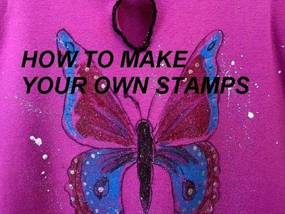 MAKE STAMPS FROM CARDBOARD,  how to diy stamps,