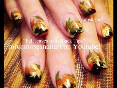 Nail Art Tutorial | DIY Fall Nail Art  | Thanksgiving Autumn Leaves Design Tutorial