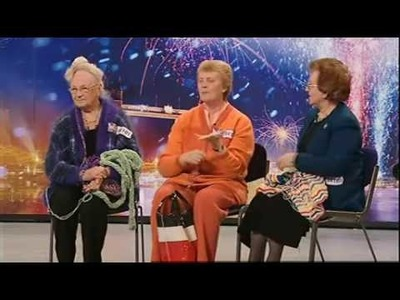NIT AND NATTY FINGER KNITTING TEAM ON BRITAINS GOT TALENT 2009