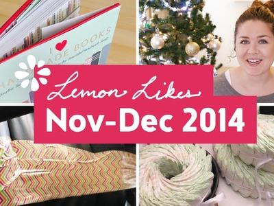 November - December Favorites 2014 ❋ Lemon Likes