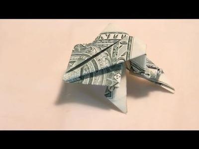 Origami Jumping Dollar Frog