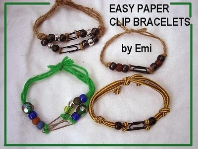 PAPER CLIP AND YARN BRACELET, crafts for kids, group activity