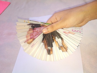Paper Hand Fan - Origami Paper Crafts for Kids