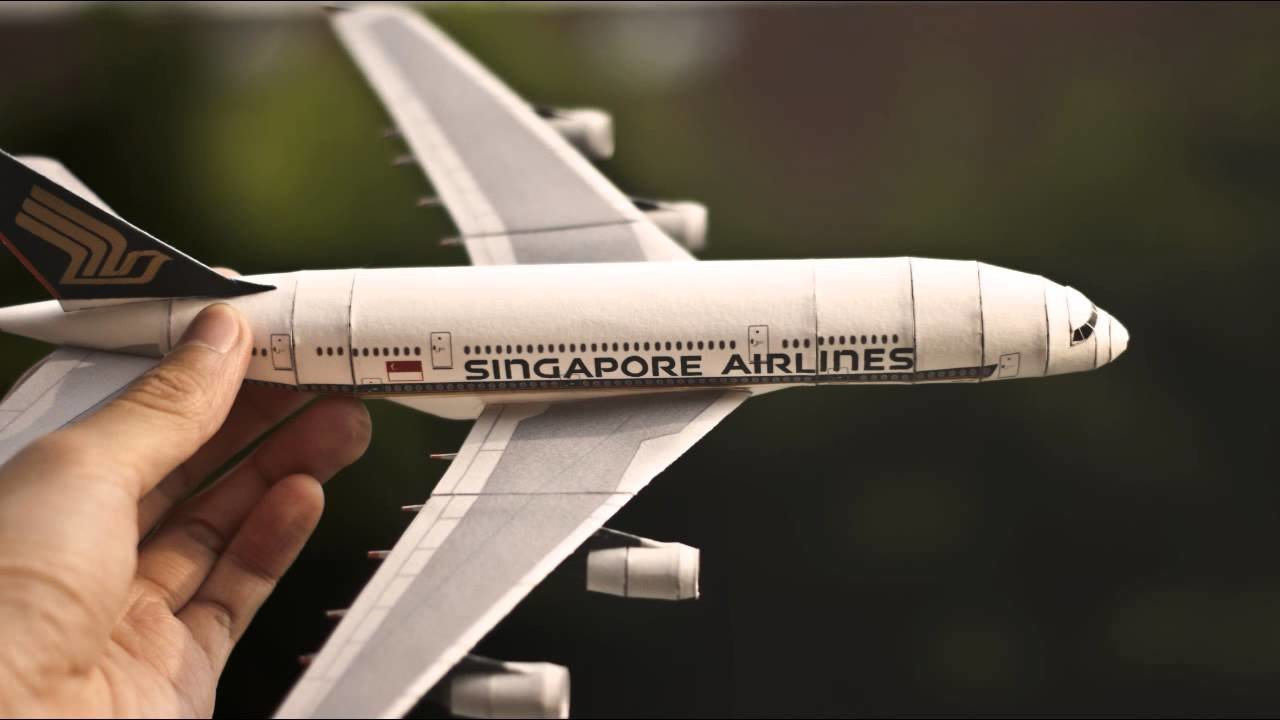 Paper Replika | Papercraft Singapore Airlines Airbus A380