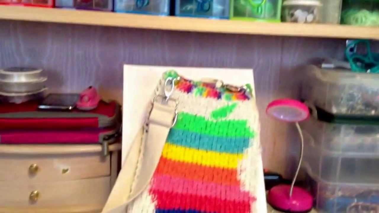 Rainbow loom lovers mini Ipad handbag