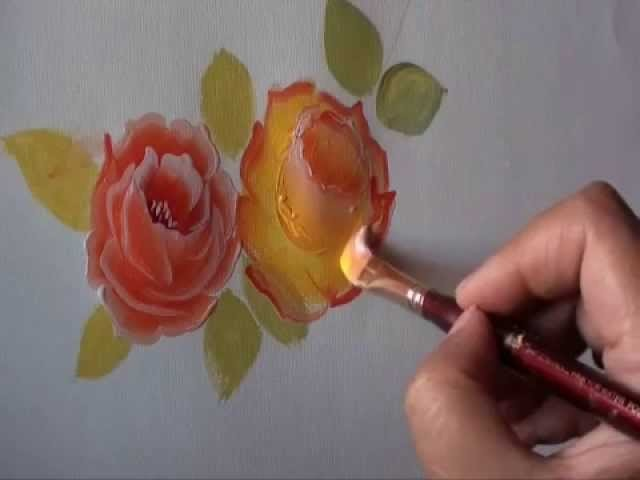 Rose painting - a simple way