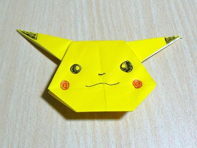 The art of folding paper. Pikachu