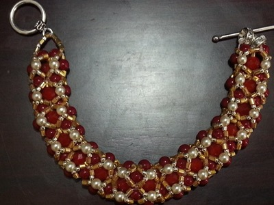 The Sparkling Red Admiral Crystal Beaded Bracelet