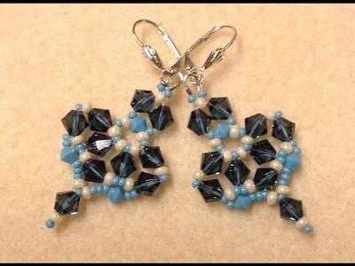 Triangular Glam Earrings Tutorial
