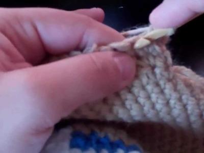 Tutorial-Crochet Boy Sock Monkey Beanie (part-2)