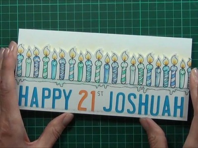 21st Birthday video tutorial for Scrapbook Boutique!