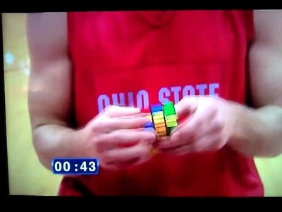 Aaron Craft Solves Rubik's Cube in 65 seconds