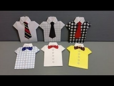 Art & Craft : Origami Shirt Paper - Print Your Own! - Shirts How to Make From Paper