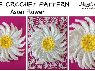 Aster Flower Free Crochet Pattern - Right Handed