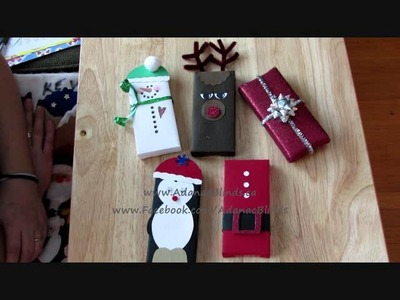 Chocolate Bar Wrapping - Christmas Crafting [Overview]