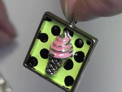 Crafting Dimensional Ice Cream Cone Pendant Great Gift for Holidays or Christmas