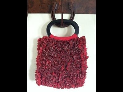 Crochet a  Ruby Ribbon Candy Purse