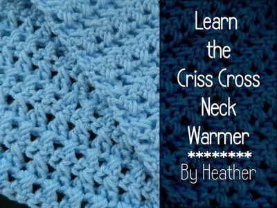 Crochet Criss Cross Neckwarmer Reversible