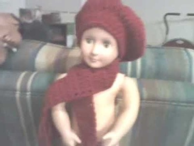Crochet Hat and Scarf(doll)