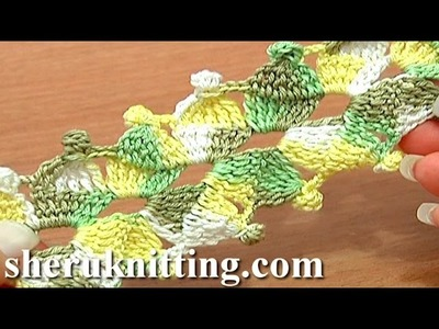 Crochet Lace Cord Tutorial 13 Treble Crochet Decrease Stitch