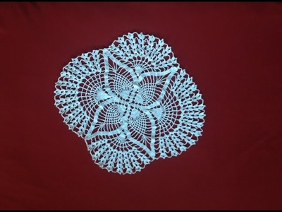 Crochet Oval Pineapple Lace Doily Part 5