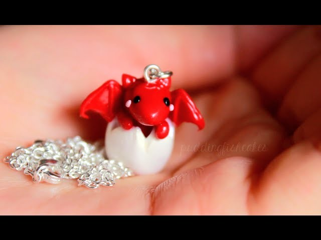 DIY: Baby Dragon Necklace Polymer Clay Tutorial (Collab w. LittleSurprisesYT)