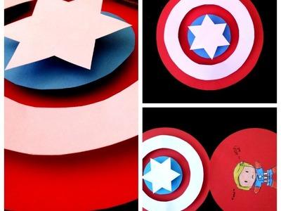 DIY Captain America Pop-up Card