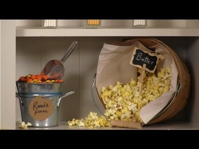 DIY Chalkboard Paint Signs for Popcorn Bar