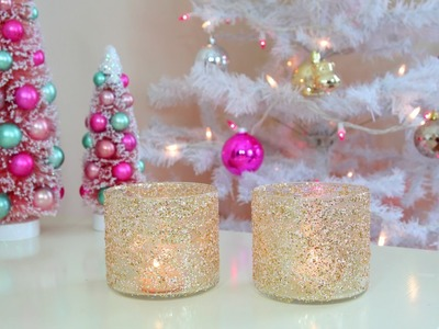 DIY Christmas.Winter Room Decor - Frosty Glitter Jars