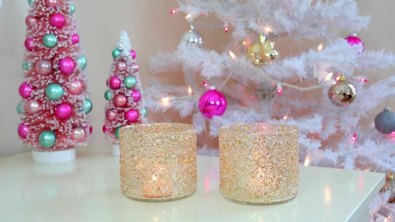 DIY Christmas.Winter Room Decor - Frosty Glitter Jars