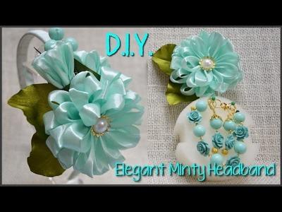 ❀ ✾ ❁ D.I.Y. Elegant Minty Headband - Tutorial ❁ ✾ ❀
