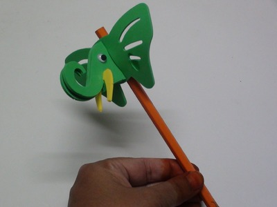 DIY Make a Foam Elephant Pencil Cap