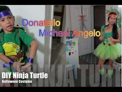 (DIY) Ninja Turtle Halloween Costume 2014 - AlyssaFaye