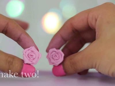 DIY: Rose Stud Earrings (Polymer Clay)