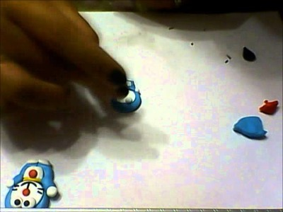 DIY:Tutorial Doraemon in fimo. how to make doraemon polymer clay