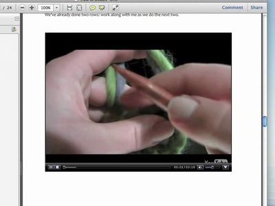 Double-Knitting Video E-Book Peek!