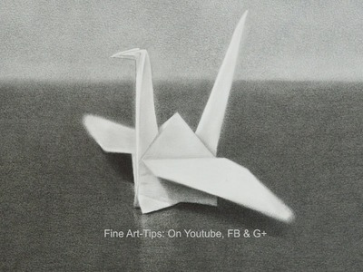 Drawing 3D Effect: How to Draw an Origami Crane - Fine Art- Tips.