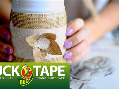 Duck Tape Crafts with LaurDIY: How to Decorate a Flower Vase
