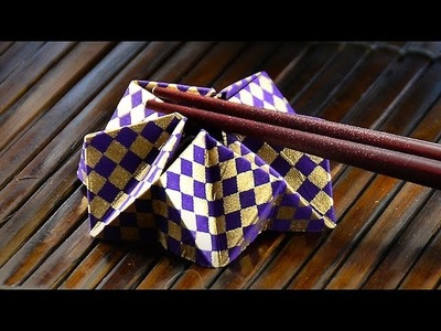 Entertain Your Guests with A Cool Origami Chopsticks Holder!