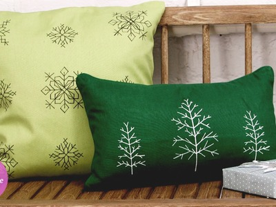 Faux Cross-Stitch Accent Pillows- DIY Style - Martha Stewart