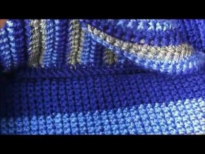 Felted Crochet Pouch Bag
