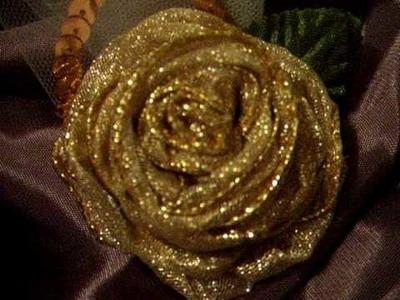 Handmade Ribbon Flower!