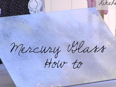 How to Create Mercury Glass Shelves: Home Decor DIY