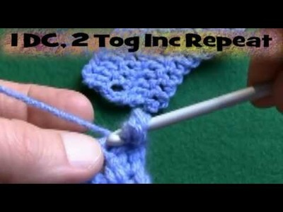 How To Crochet 2 Together Increase-Right Handed
