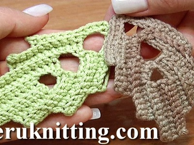 How To Crochet Leaf With Holes Inside Tutorial 7