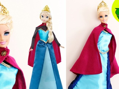 How to make a coronation dress for your Elsa or Barbie doll- Doll Crafts