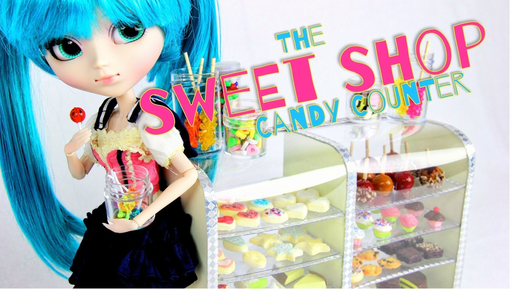 How to Make a Doll Sweet Shop Candy Counter - Doll Crafts