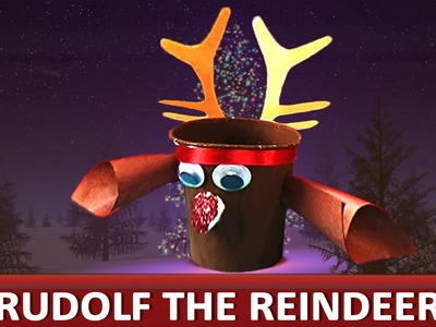 "How To Make A Paper Cup Rudolf - ""Paper Art and Craft Ideas"""