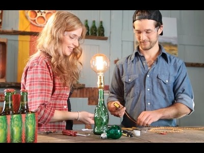 How to Make a Recycled Beer Bottle Lamp || Lucky Buddha Beer Crafts